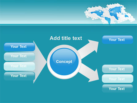 Wide World Jigsaw PowerPoint Template Slide 14
