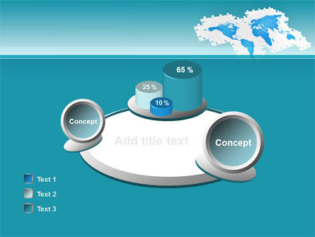 Wide World Jigsaw PowerPoint Template Slide 16