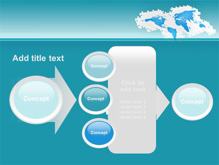 Wide World Jigsaw PowerPoint Template Slide 17