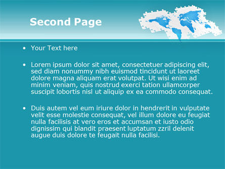 Wide World Jigsaw PowerPoint Template Slide 2