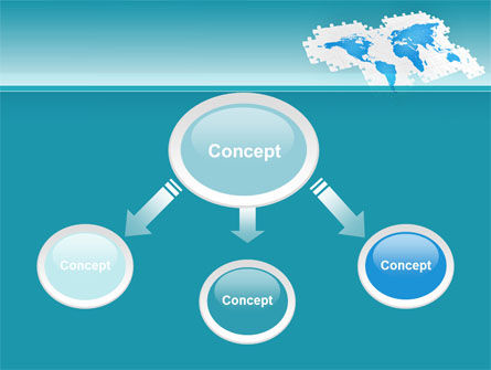 Wide World Jigsaw PowerPoint Template, Slide 4, 10054, Global — PoweredTemplate.com