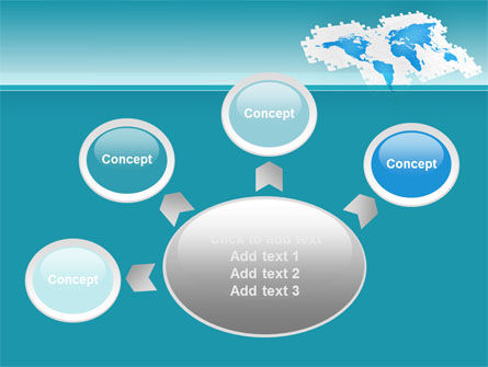 Wide World Jigsaw PowerPoint Template Slide 7