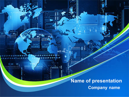 Wide World Computerization PowerPoint Template