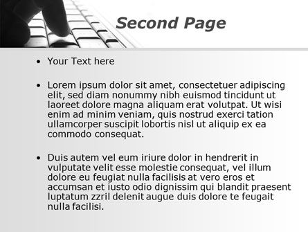 Typing Text PowerPoint Template, Slide 2, 10062, Computers — PoweredTemplate.com