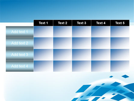 Squares in Wave PowerPoint Template Slide 15