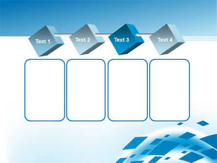 Squares in Wave PowerPoint Template Slide 18