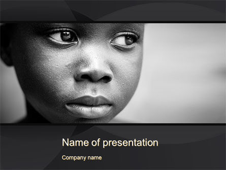 People: Black Boy PowerPoint Template #10064