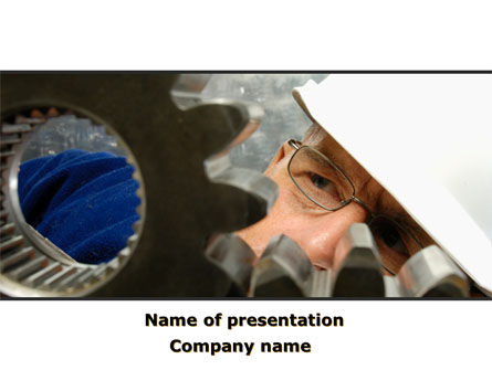Utilities/Industrial: Adjusting Gear Transmission PowerPoint Template #10065