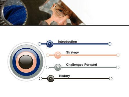Adjusting Gear Transmission PowerPoint Template, Slide 3, 10065, Utilities/Industrial — PoweredTemplate.com