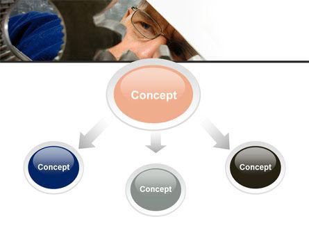 Adjusting Gear Transmission PowerPoint Template, Slide 4, 10065, Utilities/Industrial — PoweredTemplate.com