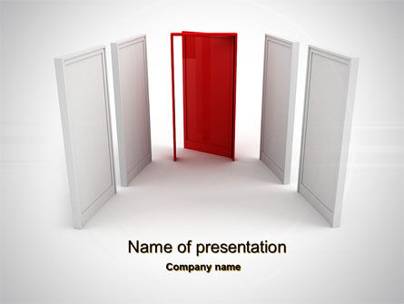 Doorway PowerPoint Template, 10066, Consulting — PoweredTemplate.com