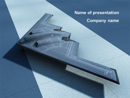 Northrop Grumman B-2 Spirit PowerPoint Template, 10067, Military — PoweredTemplate.com