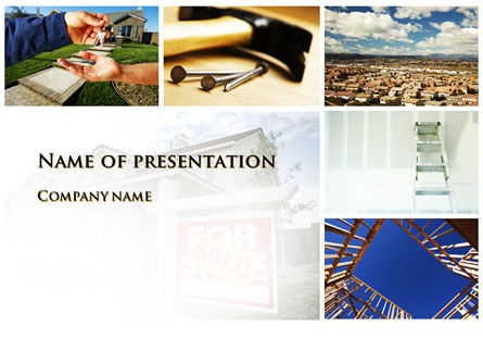 Building For Sale PowerPoint Template, 10068, Real Estate — PoweredTemplate.com
