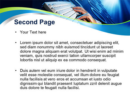Digits In Line PowerPoint Template, Slide 2, 10072, Computers — PoweredTemplate.com