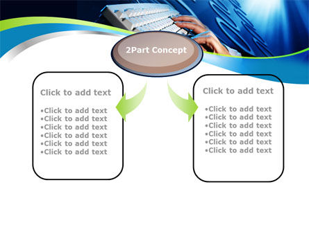 Digits In Line PowerPoint Template, Slide 4, 10072, Computers — PoweredTemplate.com