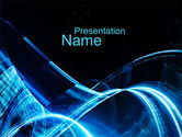 Abstract/Textures: Blue Stains PowerPoint Template #10076