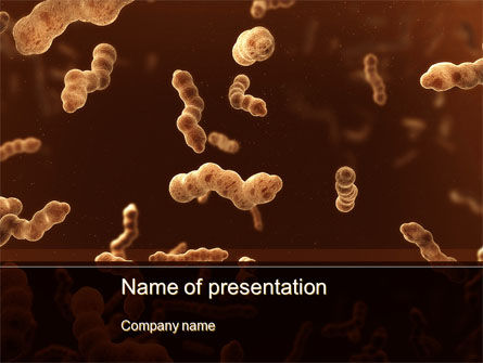 Medical: Modèle PowerPoint de escherichia coli en liquide #10078