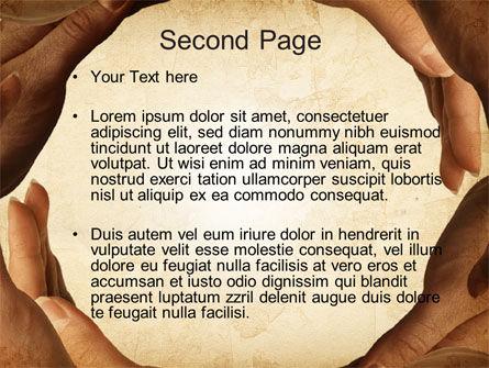 Circle of Hands PowerPoint Template, Slide 2, 10080, Religious/Spiritual — PoweredTemplate.com