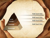 Circle of Hands PowerPoint Template#12