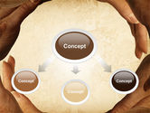Circle of Hands PowerPoint Template#4