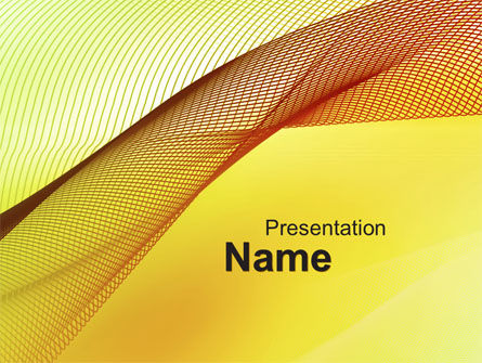 Abstract Yellow Net PowerPoint Template, 10081, Abstract/Textures — PoweredTemplate.com