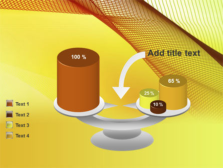 Abstract Yellow Net PowerPoint Template Slide 10