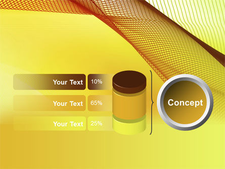 Abstract Yellow Net PowerPoint Template Slide 11