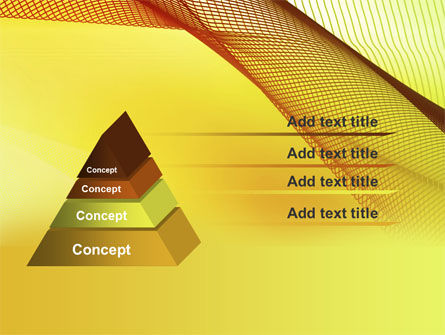Abstract Yellow Net PowerPoint Template Slide 12