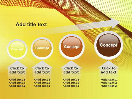 Abstract Yellow Net PowerPoint Template Slide 13