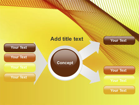 Abstract Yellow Net PowerPoint Template Slide 14