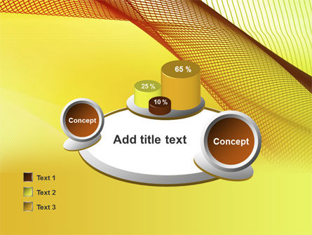 Abstract Yellow Net PowerPoint Template Slide 16