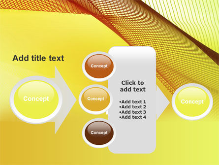 Abstract Yellow Net PowerPoint Template Slide 17