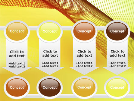 Abstract Yellow Net PowerPoint Template Slide 18