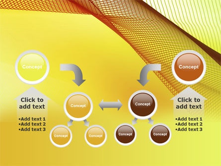 Abstract Yellow Net PowerPoint Template Slide 19