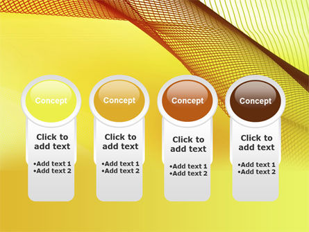 Abstract Yellow Net PowerPoint Template Slide 5