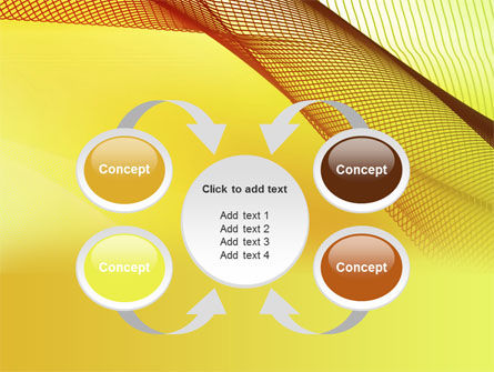 Abstract Yellow Net PowerPoint Template Slide 6
