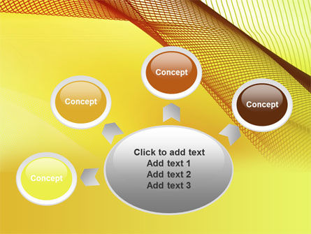 Abstract Yellow Net PowerPoint Template Slide 7