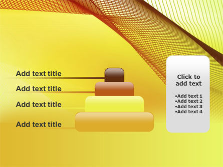 Abstract Yellow Net PowerPoint Template Slide 8