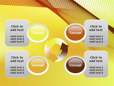 Abstract Yellow Net PowerPoint Template Slide 9