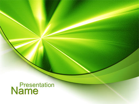 Abstract Green Sparkles PowerPoint Template