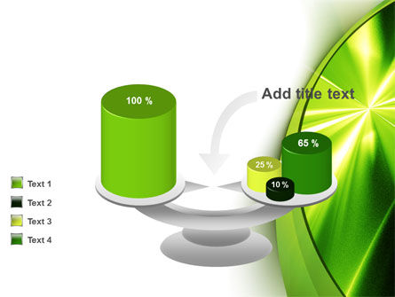 Abstract Green Sparkles PowerPoint Template Slide 10
