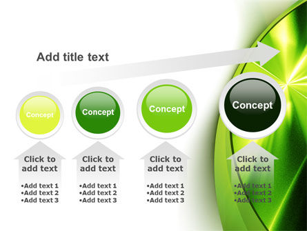 Abstract Green Sparkles PowerPoint Template Slide 13