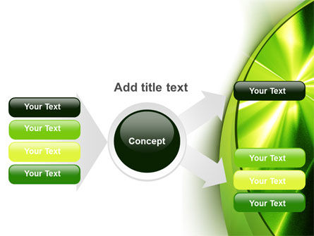 Abstract Green Sparkles PowerPoint Template Slide 14