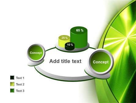 Abstract Green Sparkles PowerPoint Template Slide 16