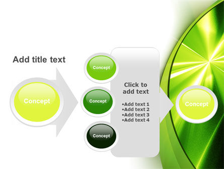 Abstract Green Sparkles PowerPoint Template Slide 17