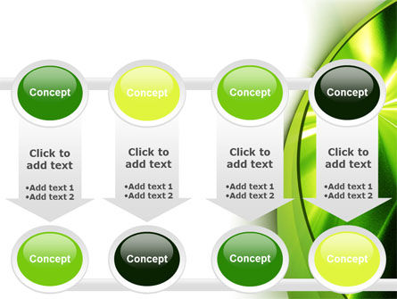 Abstract Green Sparkles PowerPoint Template Slide 18