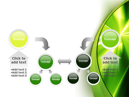 Abstract Green Sparkles PowerPoint Template Slide 19