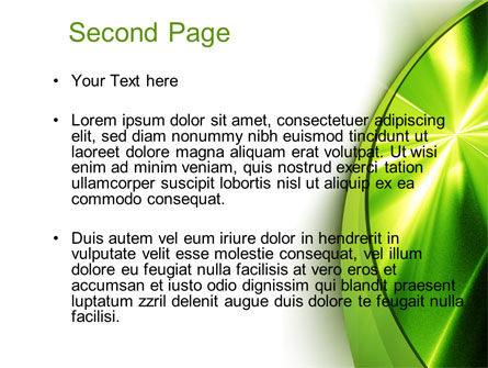 Abstract Green Sparkles PowerPoint Template Slide 2