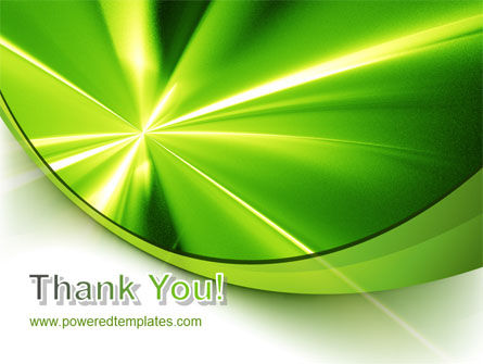 Abstract Green Sparkles PowerPoint Template Slide 20