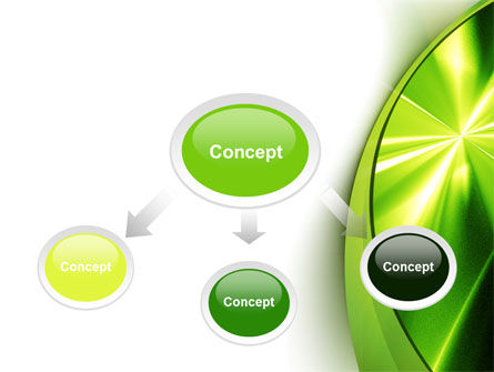 Abstract Green Sparkles PowerPoint Template Slide 4